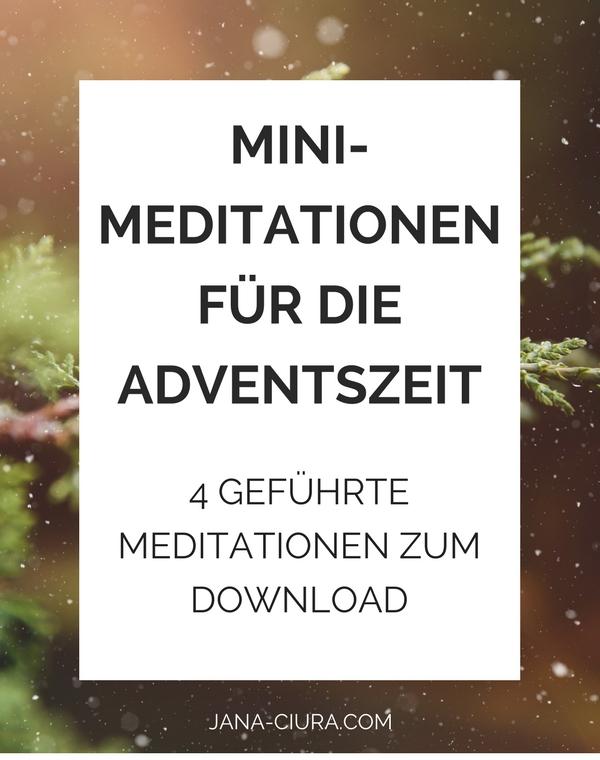 Vier geführte Meditationen für mehr Ruhe und Liebe in der Weihnachtszeit