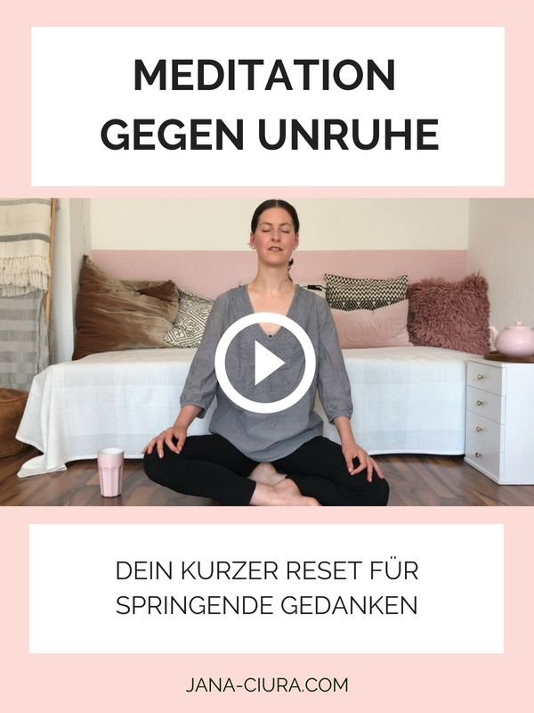 Kurze Meditation gegen Unruhe - YouTube Video