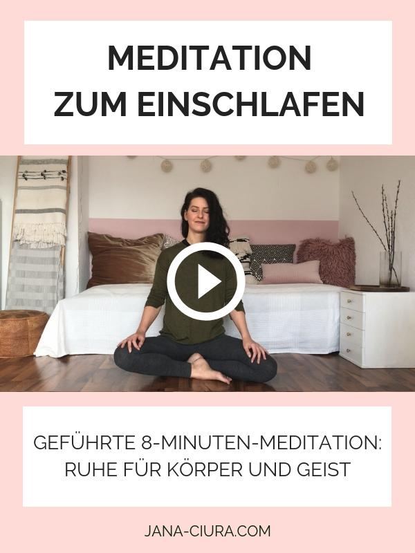 Mit Meditation besser einschlafen - YouTube Video mit geführter Abendmeditation