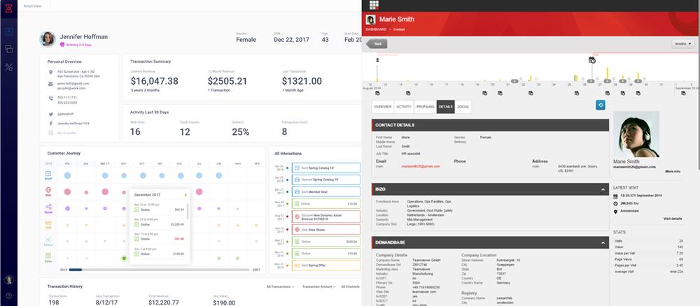 Redpoint vs. Sitecore Customer Screens