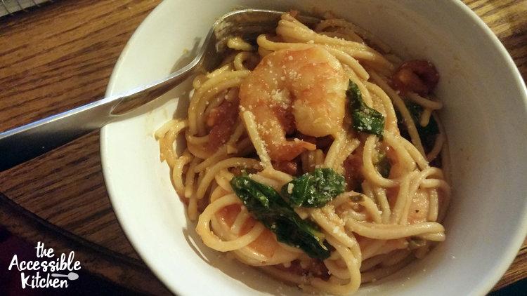 Shrimp Pasta plated pretty