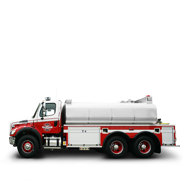 Chilliwack FD  Built on a Freightliner M2-112 Chassis, Chilliwack's Tanker Engine utilizes a Detroit DD13 and an Allison EVS 4000 transmission which yields 450 horse power.