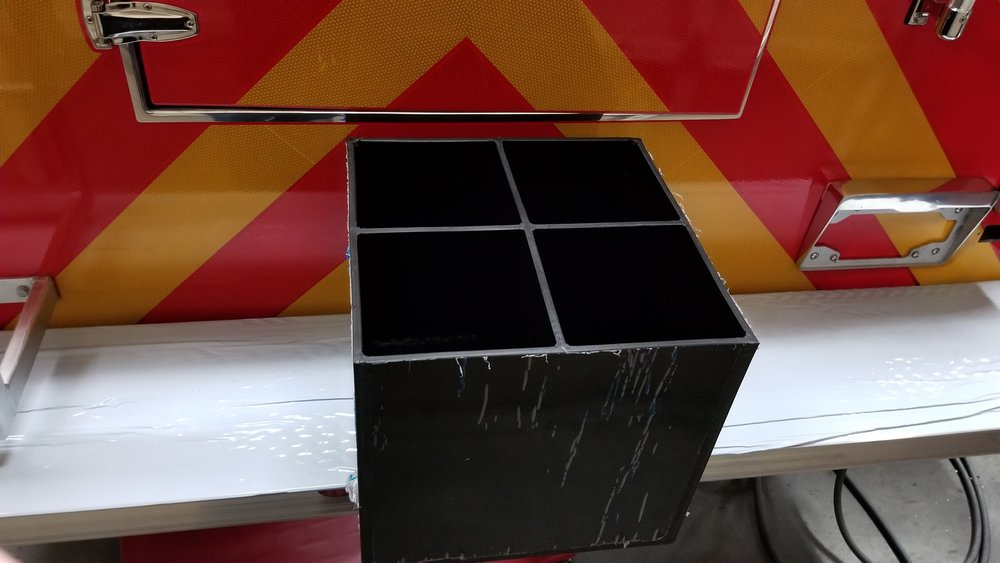Vertical SCBA or Extinguisher Storage