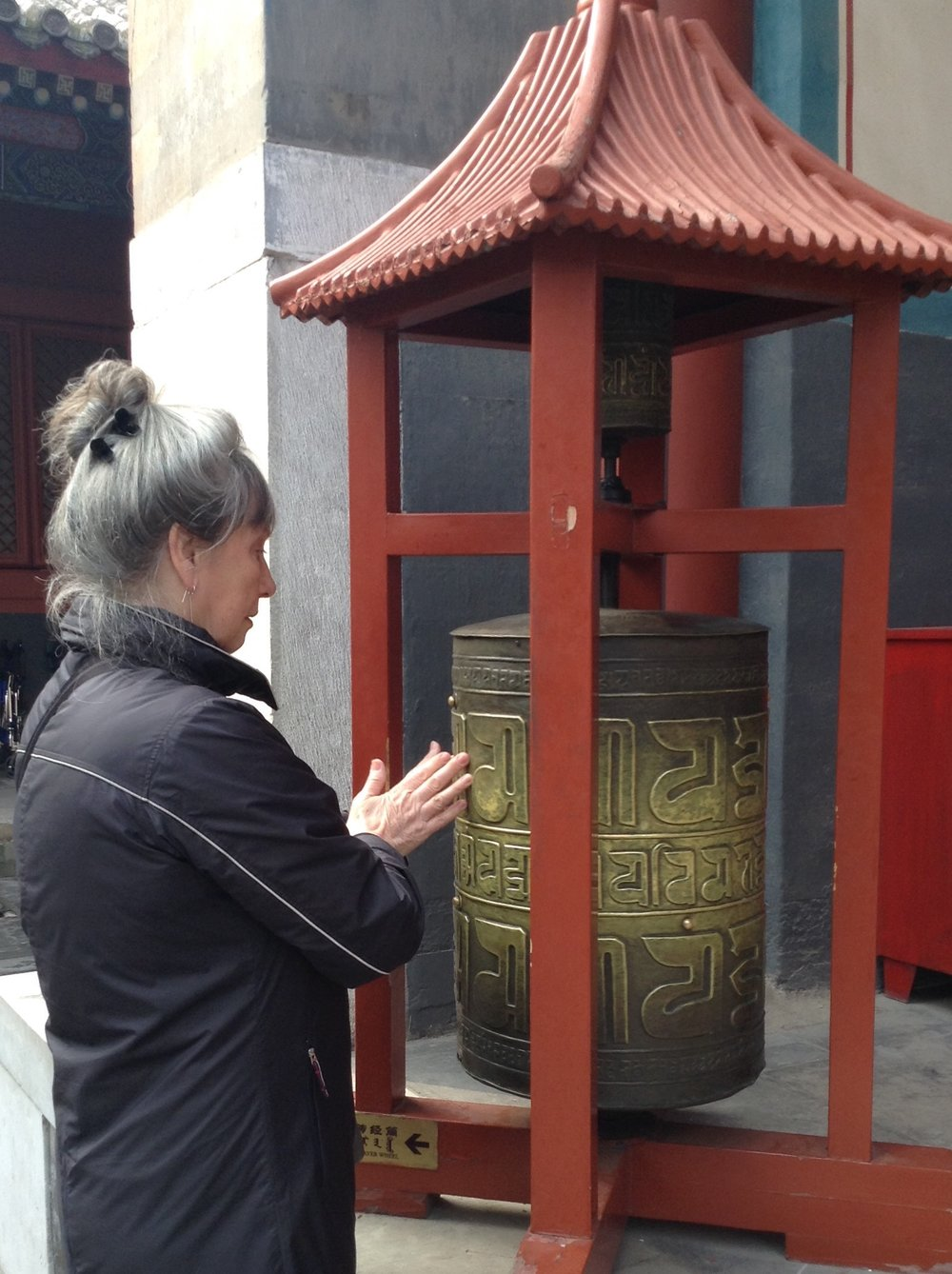 Moira on her trip to China this year.