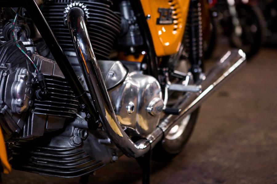 1974 Ducati 750S Sport exhaust