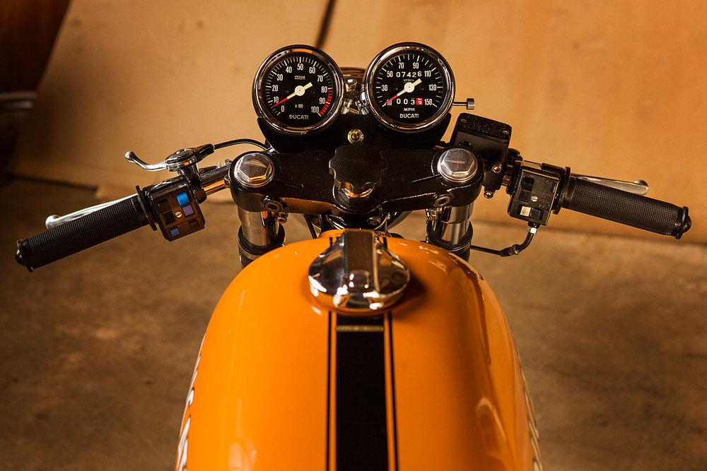1974 Ducati 750S Sport clip ons