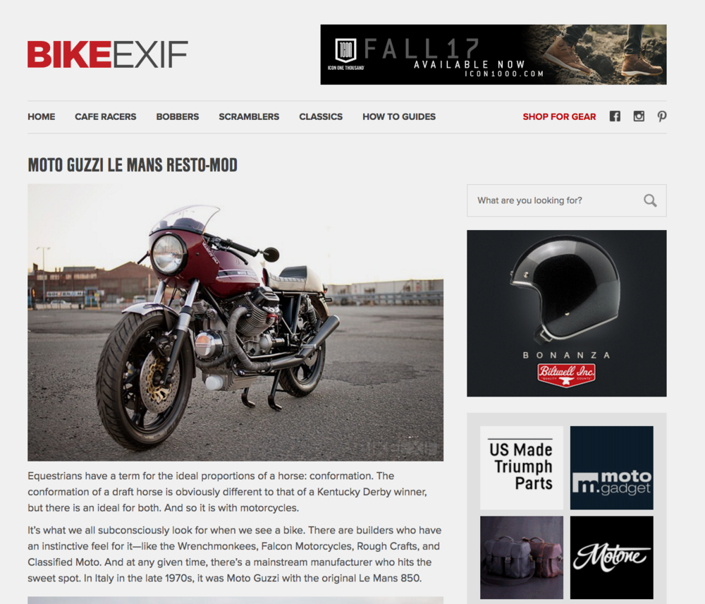 Moto Borgtoaro Custom Lemans II BikeEfix
