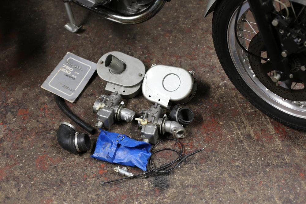 1977 Ducati 900SS original tool kit airbox