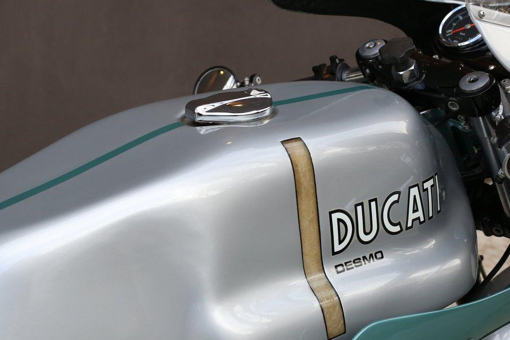 1974 Ducati 750SS green frame moto borgotaro tank paint