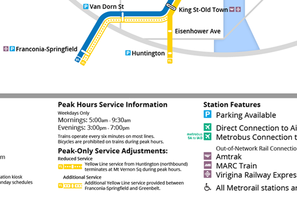 Unique Yellow Line service information