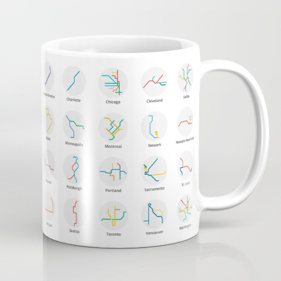 US & Canada Mug - Color