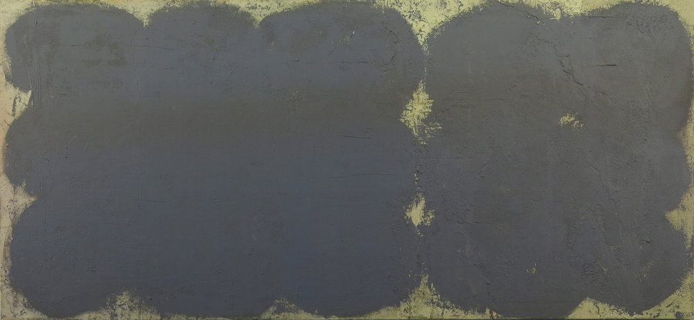 "some of those, 34x74,"" polymer pigment sand on canvas, mark petersen 2013"