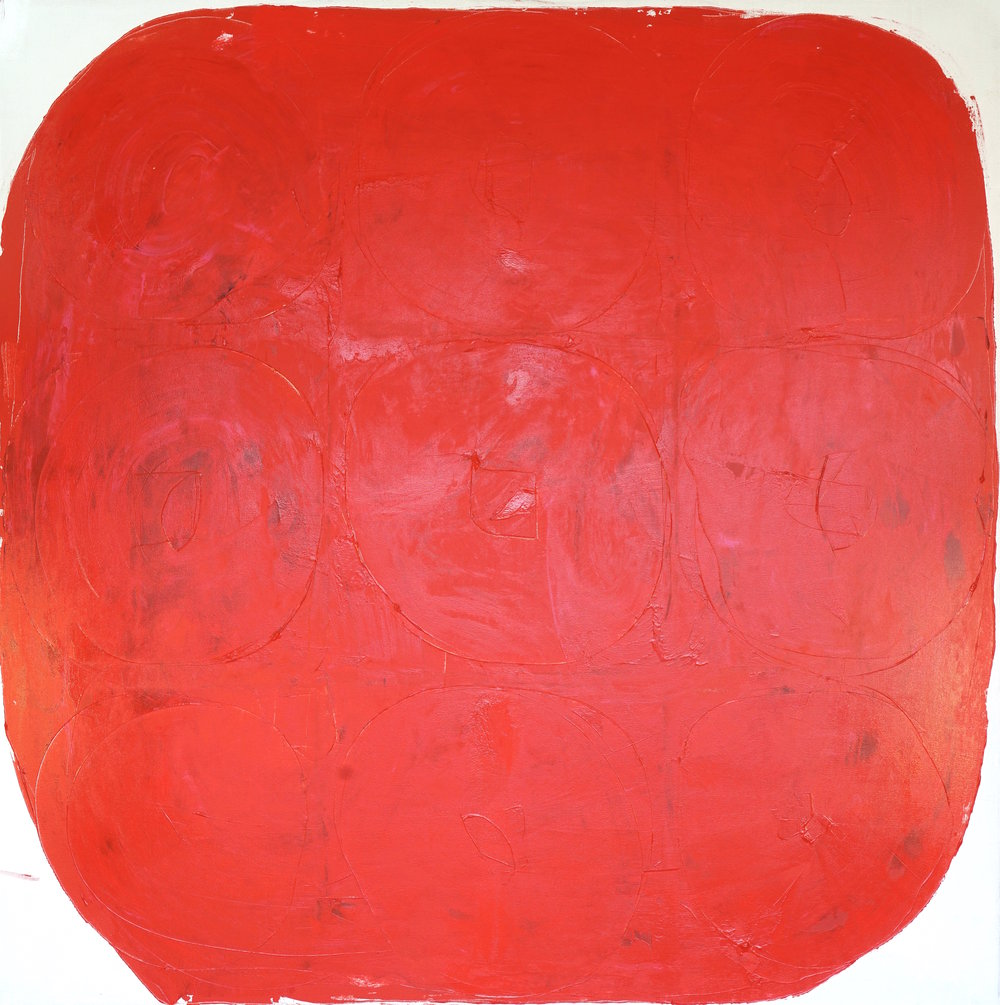 "marasca, 66x66"" acrylic on canvas, mark petersen 2014"