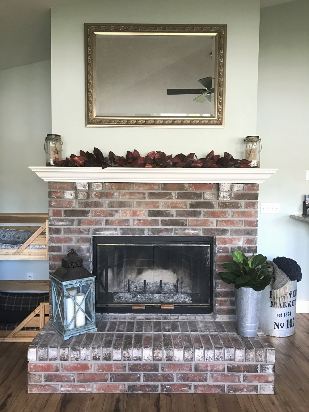 How To White Wash How To Whitewash A Brick Fireplace Southern Hound Design