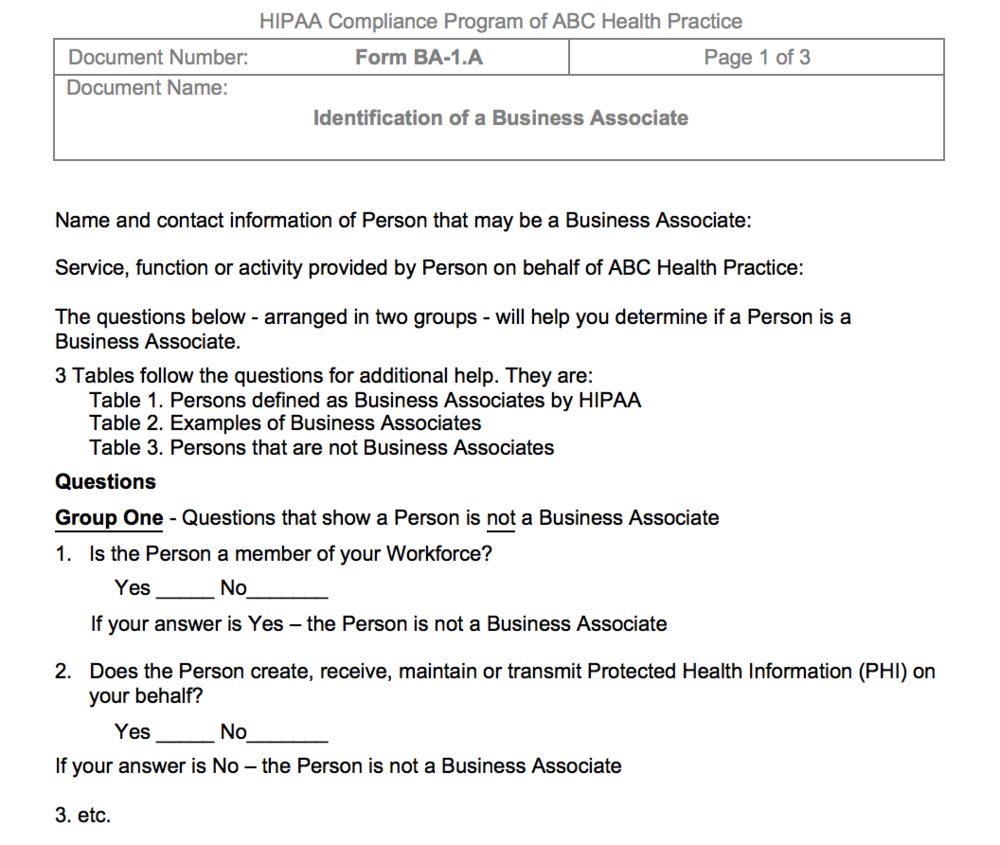 Business Associates Are A High Priority What To Do The Hipaa E Tool