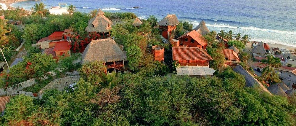 Our shala, bungalows & beach views