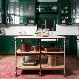 kitchen color trend- going green
