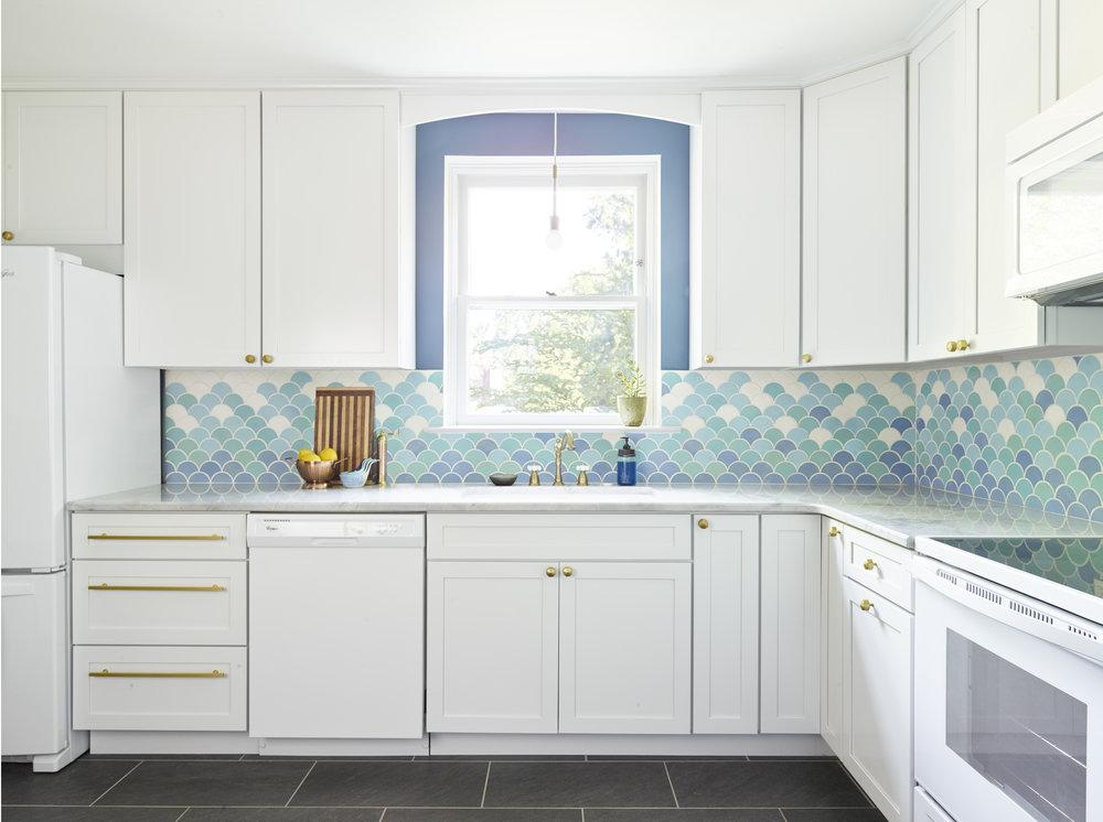 Michelle Gage // Havertown Ocean Inspired Kitchen Reno
