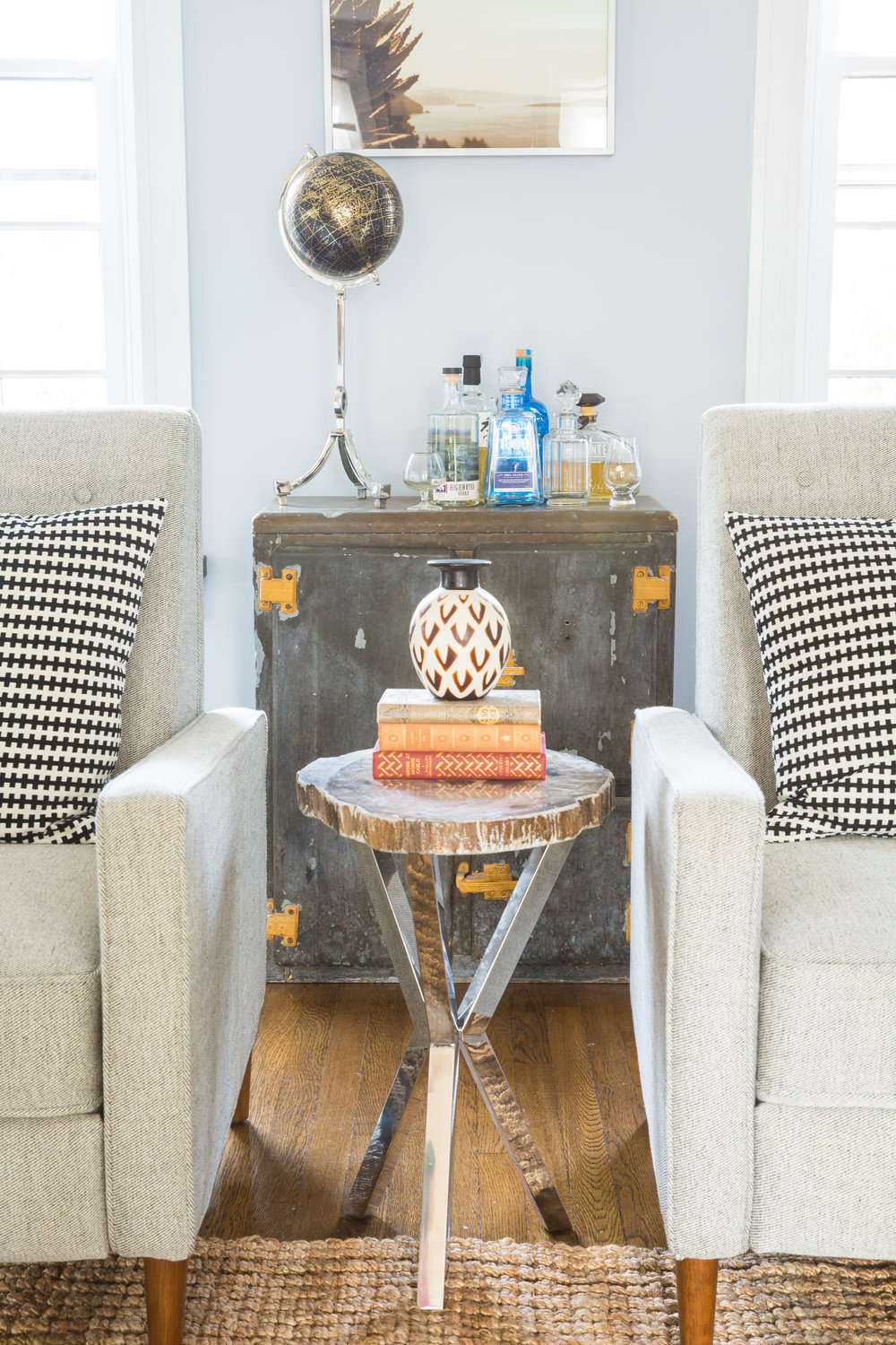 Michelle Gage // Mainline Feminine Meets Masculine Living Room