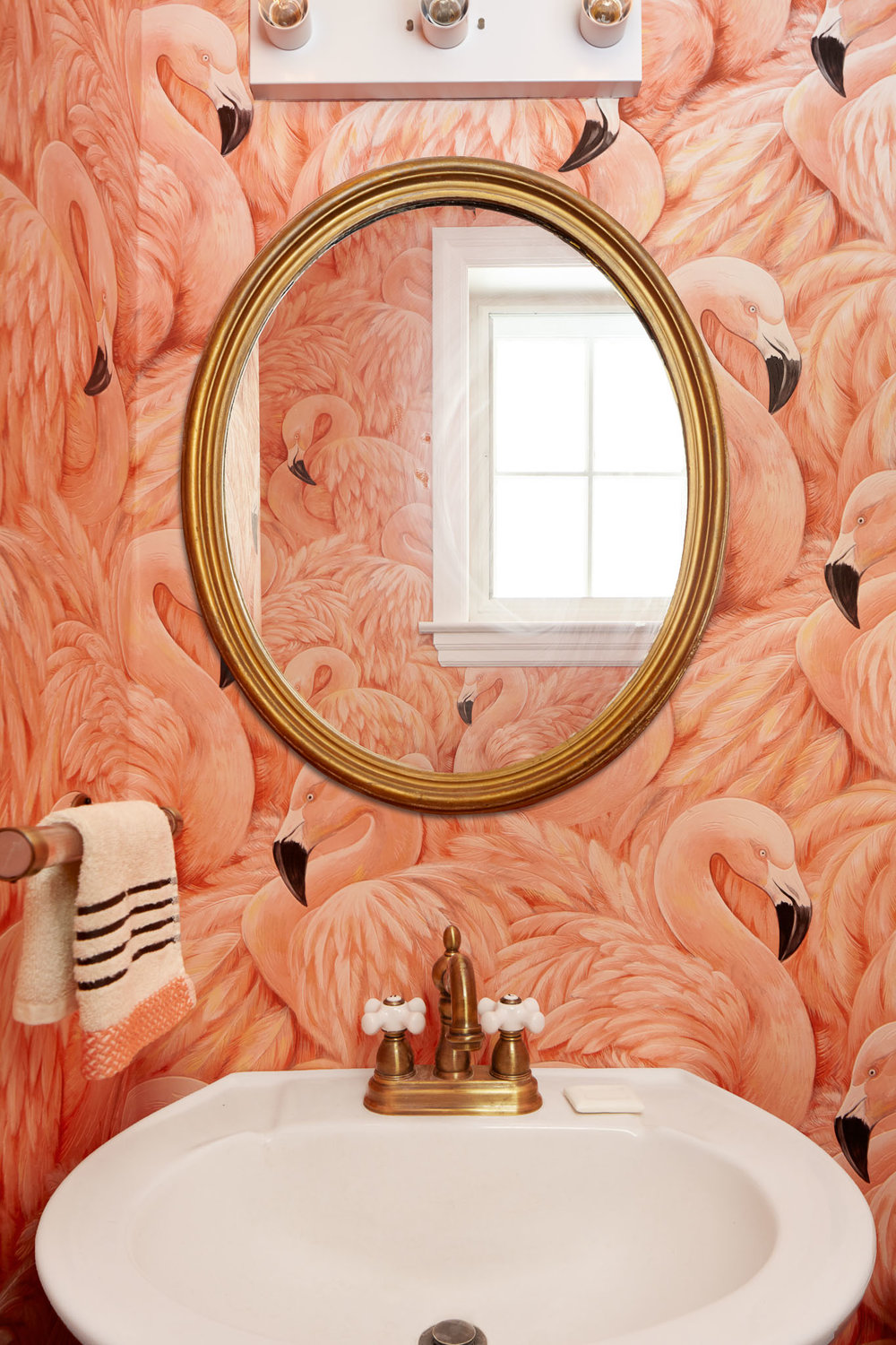 Michelle Gage // Design Ideas: Wallpapered Powder Rooms