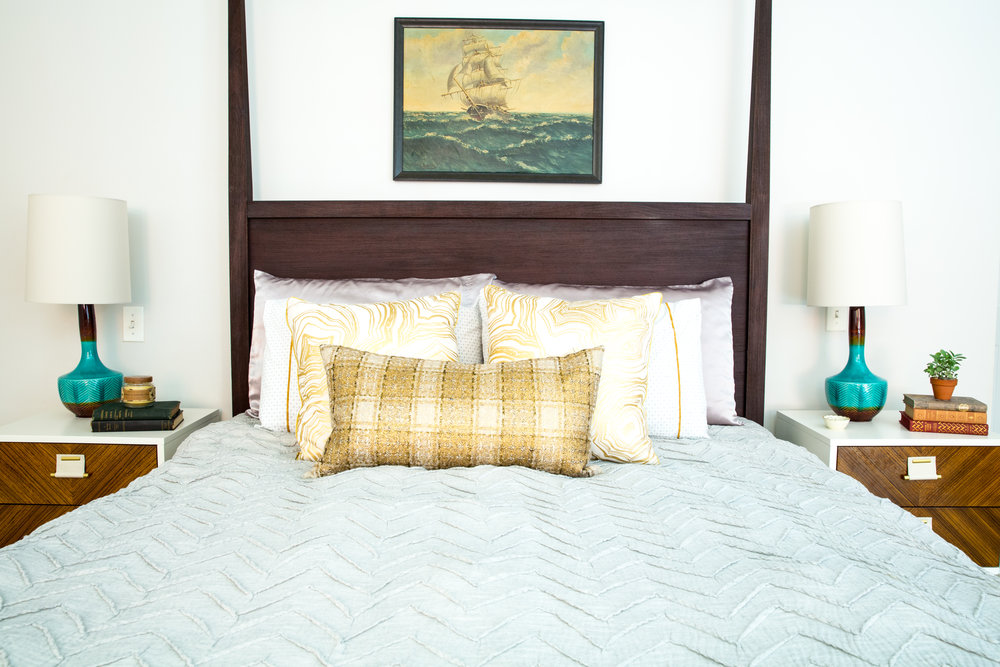 Michelle Gage // Before + After: Bright + Bold Master Bedroom