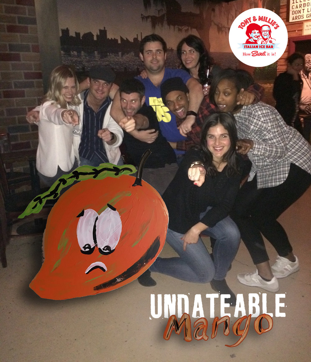 Tony and Millie's thanks the cast from HBO's Undatable for the name Undateable Mango!