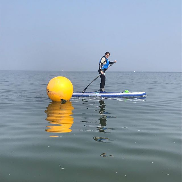 Liz had her first lesson yesterday - it was perfect conditions and she was up and around those buoys in no time - we even saw a seal which made it extra special 😊🌞🏄🏼‍♀️ . . . #sup #standuppaddle #suplife #paddleboarding #lovetosup #watersports #fitness #whitstable #lovewhitstable #whitstablelife #motivation #learntosup #mcconksuk