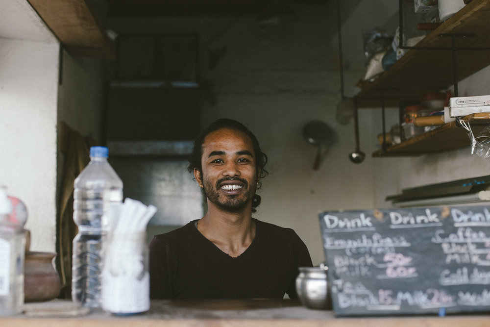 The friendly owner & amazing cook of Sakura Corner in Kathmandu
