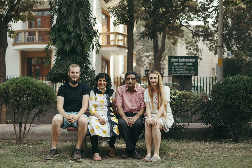 Us with Anita and Rajesh in Delhi