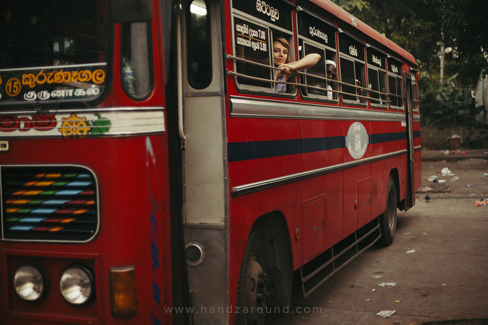 Waiting to take off in the Sri Lankan bus
