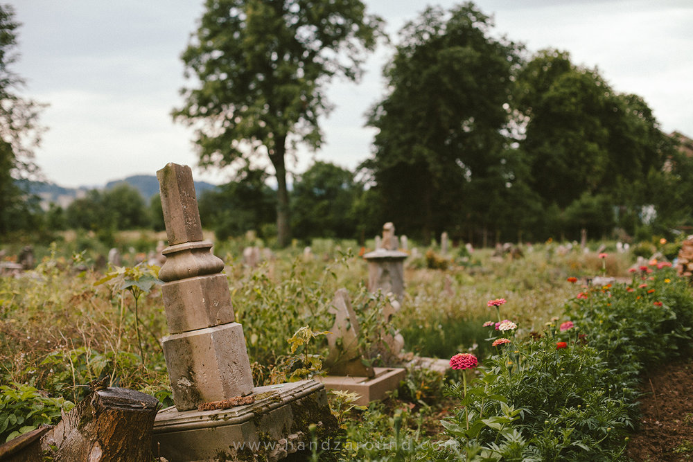 Cemetery in Gostkow - full of stories and beautiful flowers