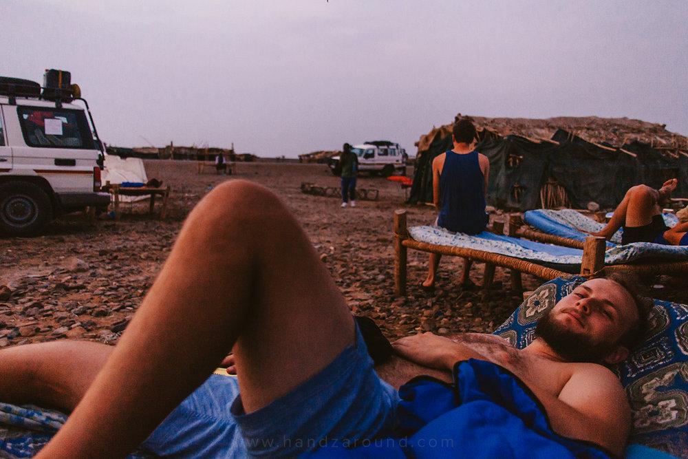 Zach on an Afar bed