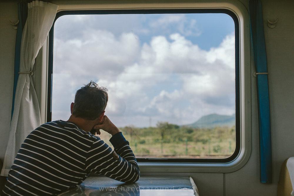 Zach on the SGR Nairobi to Mombasa train