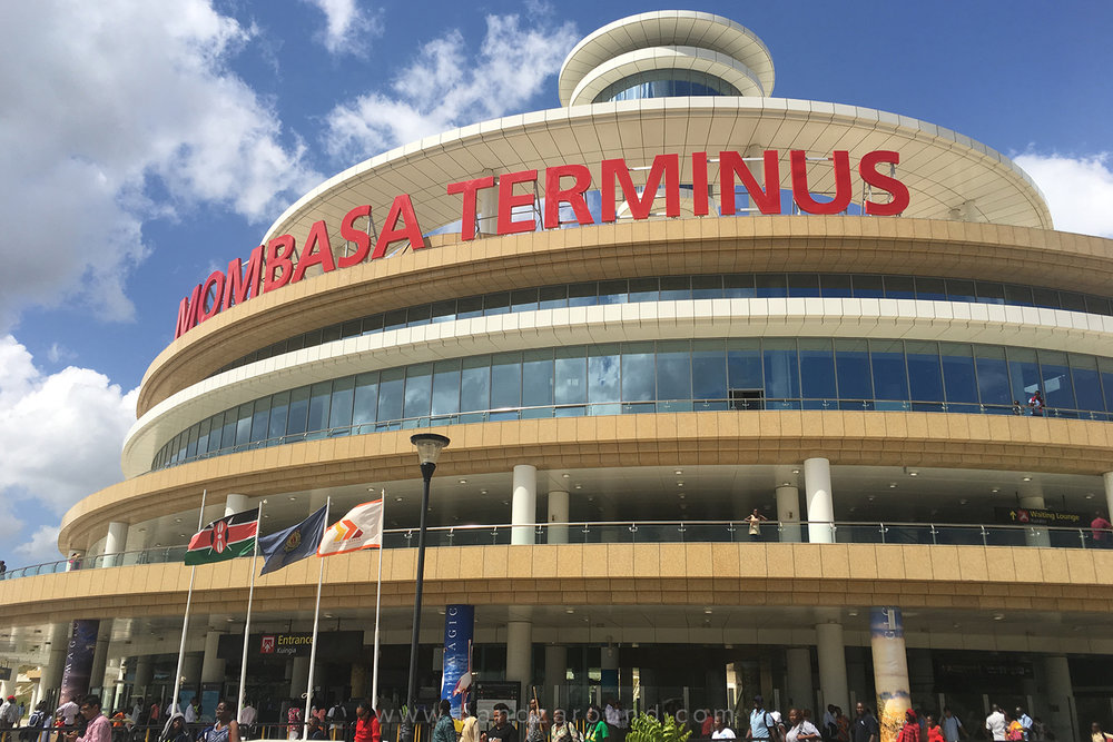 The SGR Mombasa train station