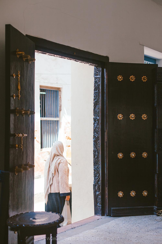 Looking through the door in Jahazi Coffee House