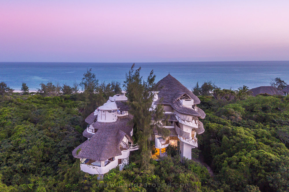 Watamu Treehouse at sunset