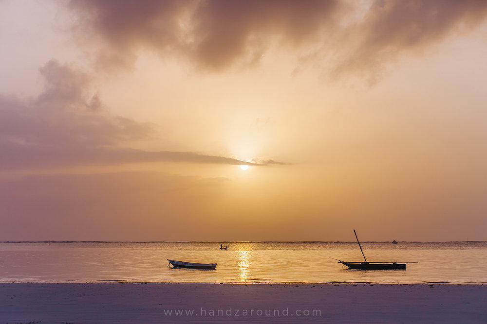 Sunrise over Diani Beach