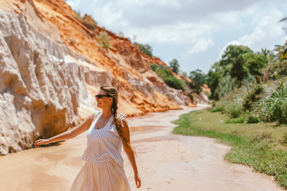 8. Mui Ne, Vietnam - Scootering around to explore the red and white sand dunes and the old fishing town.Walking through the magical Fairy Stream.Discovering that Mui Ne is a chilled and relaxed city in comparison to other ones in Vietnam.