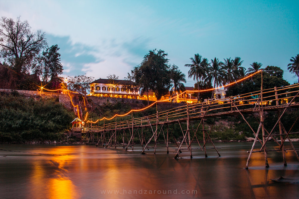 Nam Khan Bamboo Bridge
