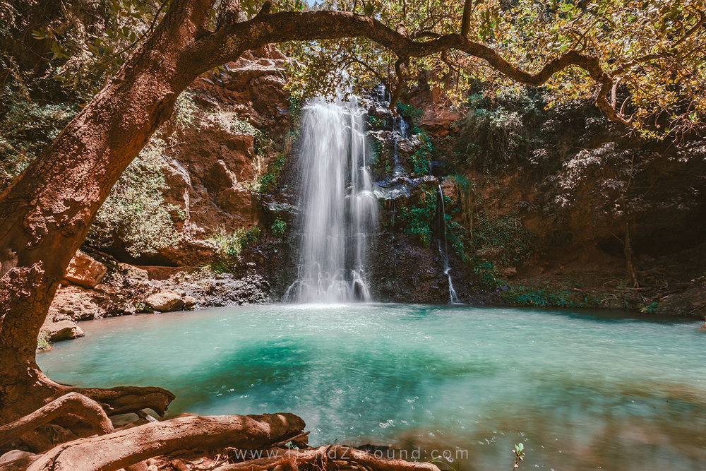 Think what you really love seeing and doing when you decide on where to go. We really love waterfalls and swimming in a cold clear water! In the picture is  Ngare Ndare waterfall in Northern Kenya .