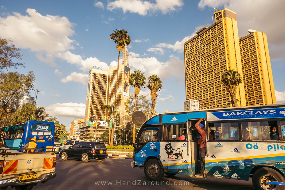 We usually travel on public transport like buses but we never can avoid planes! Here you can see the buses in Kenya's capital - Nairobi.