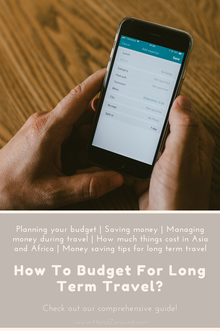 How to Budget For Long Term Travel? Planning your budget | Saving money | Managing money during travel | How much things cost in Asia and Africa | Money saving tips for long term travel | HandZaround.png