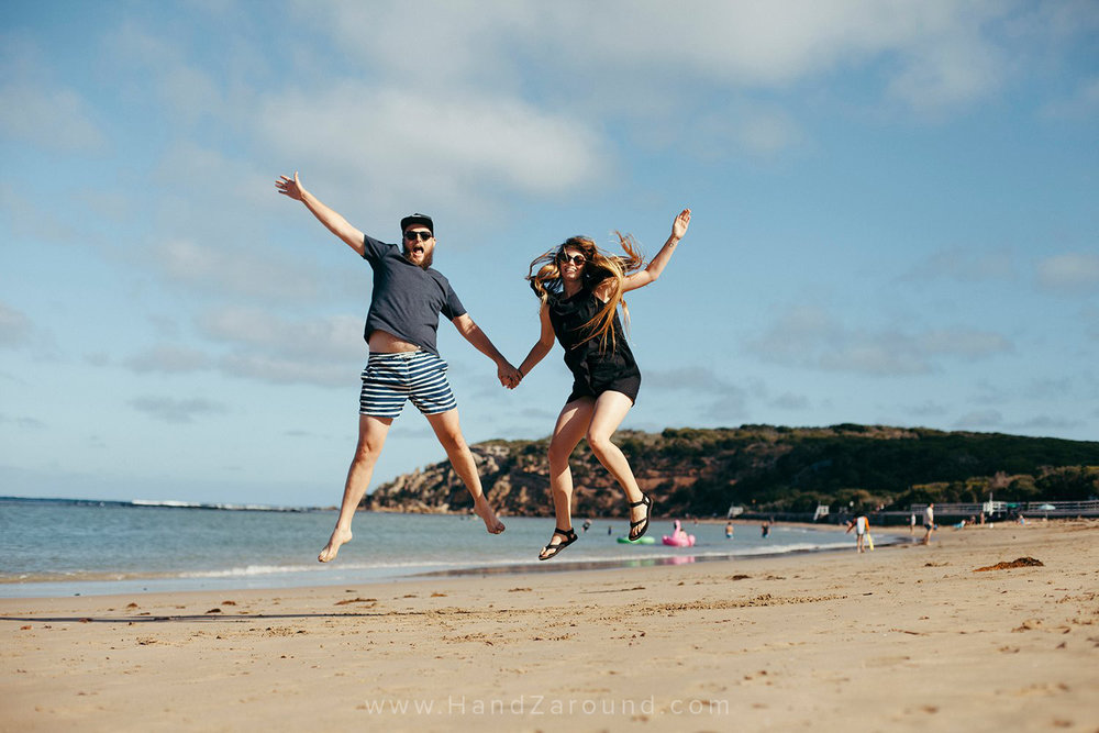 Yep, we also got this cliché jumping photo! Anyways... this is how excited we are about the next few months!