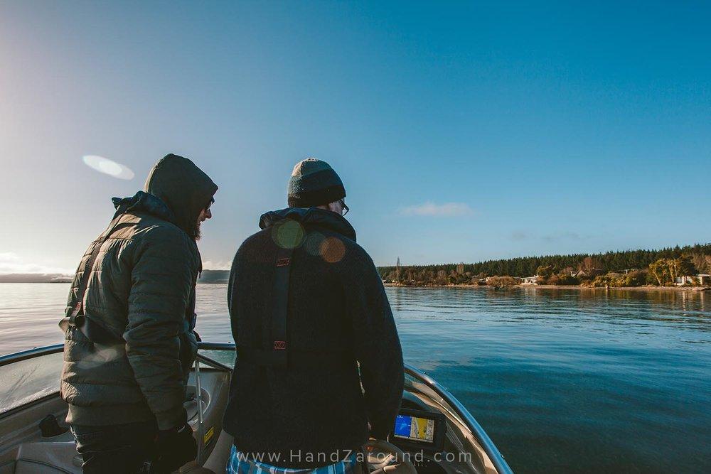 Boat ride on Lake Taupo