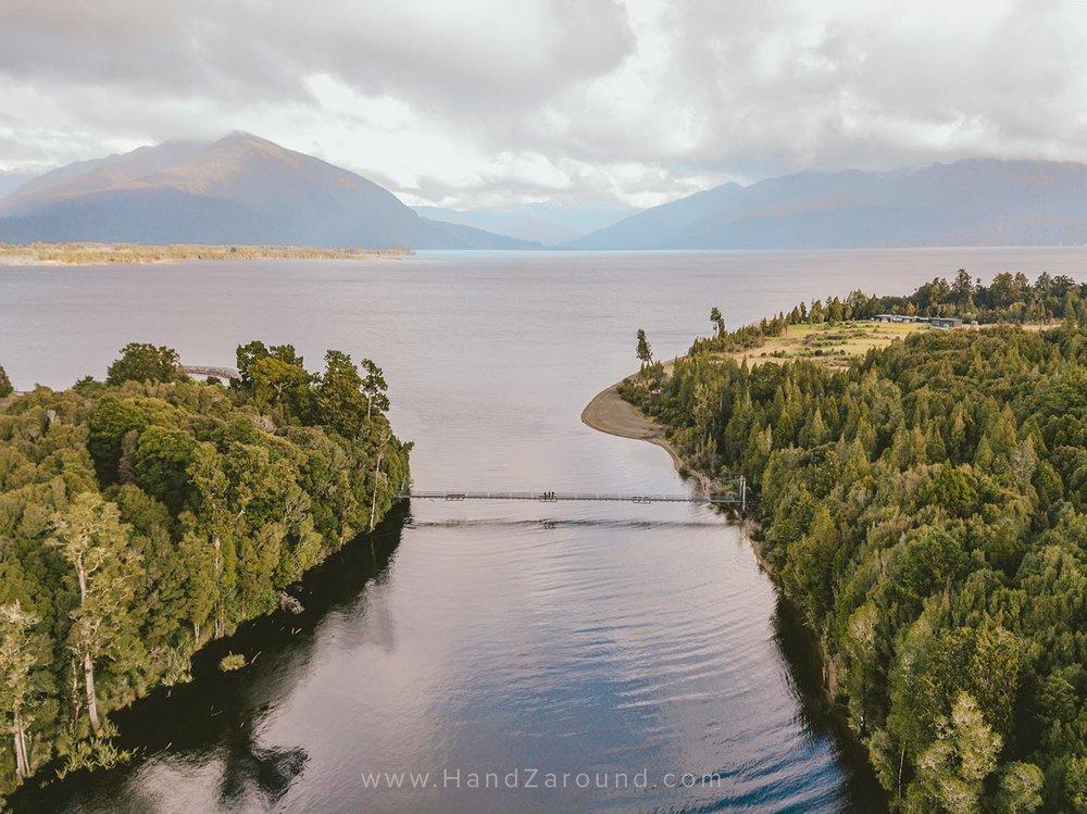 The bridge on Lake Brunner