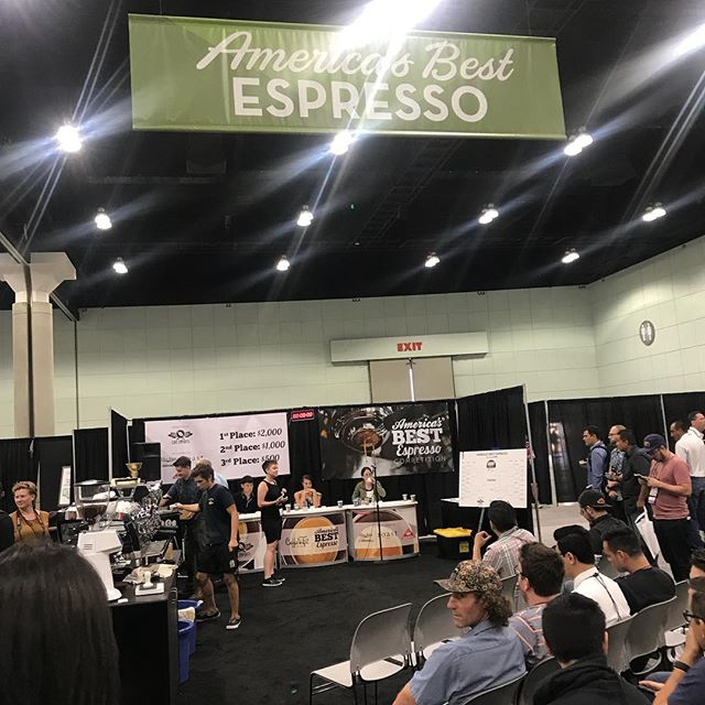 Great competition... Showed up and showed out.. #azcoffee @serafinacoffee