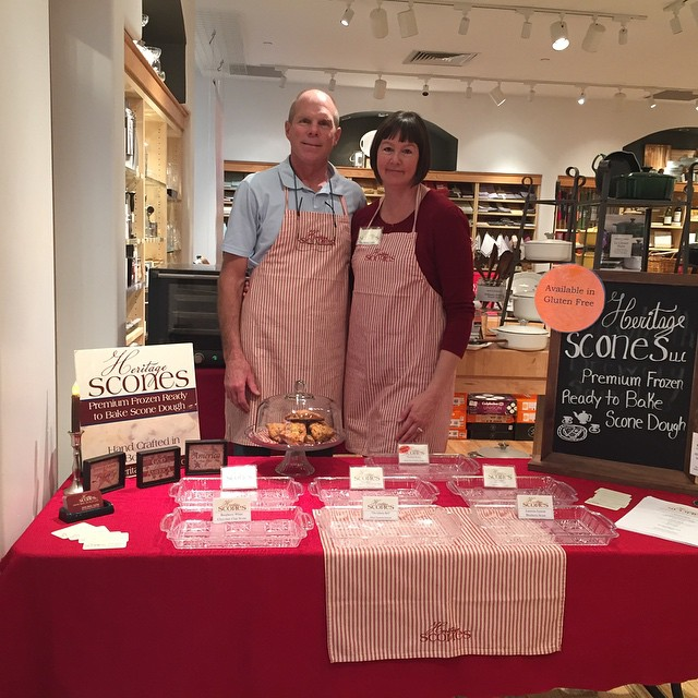 At Williams Sonoma in Boise baking up scones until 4:00 today.
