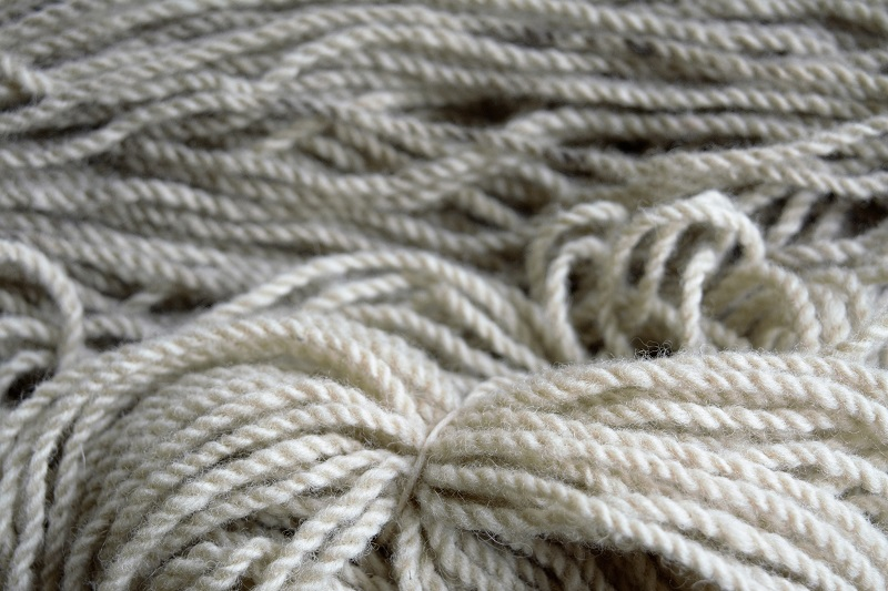 Close-up of naturally dyed yarn.