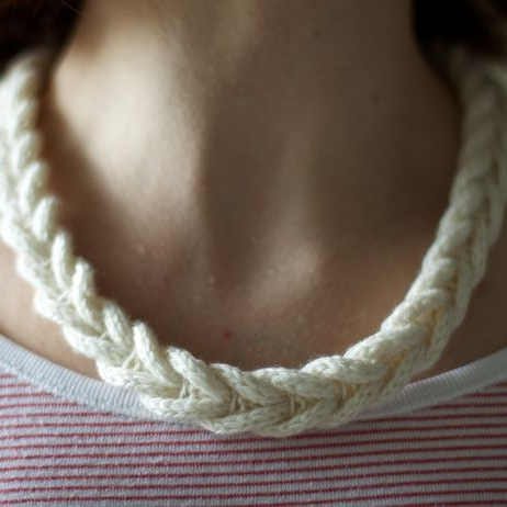 Cable Braided Necklace by Olga Buraya-Kefelien