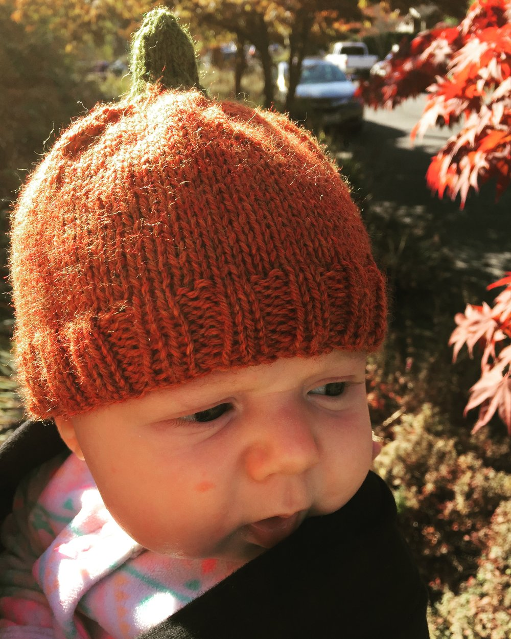 ... weather is getting cooler and she needs a hat to keep her little head  warm. And since knitting for babies is fast and easy I came up with this  pattern. 3ca9b1f4edf